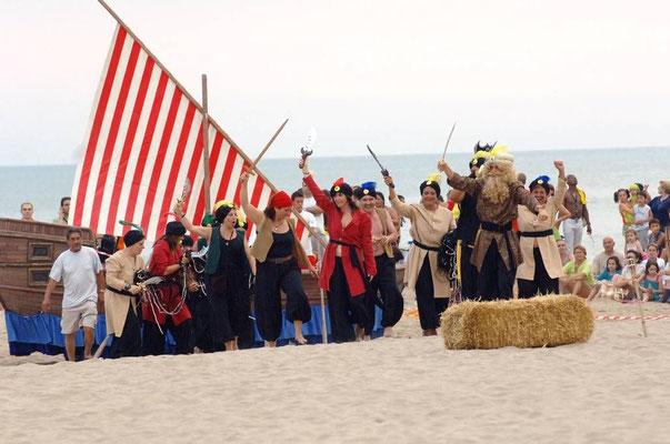 Desembarco pirata en Castelldefels