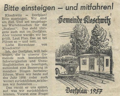 Zeitungsbericht 1957