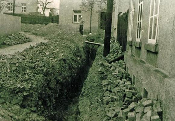 Trinkwassernetzbau Rößnitzer Straße