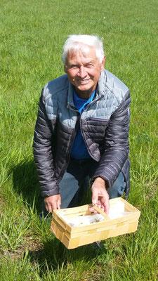 Wolfgang Oettel aus Sachsen / Anhalt hatte den Weg nach Kloschwitz mit seiner Familie und mit Freunden gern auf sich genommen