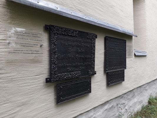 Grabtafeln Grundmann & seine Frau