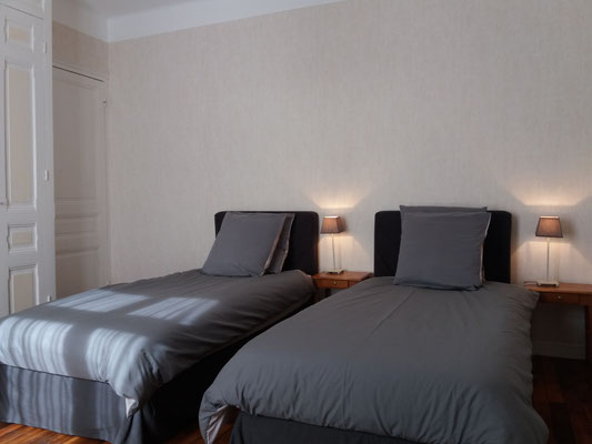 Chambre d'hôte familliale en baie de somme Chambre des enfants avec 2 lits individuels  La Villa du Marquenterre