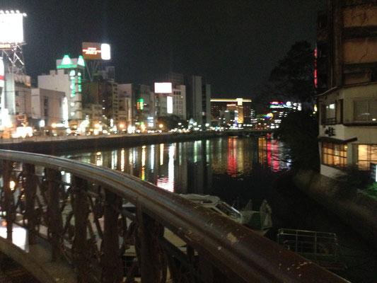2.7 夜の福岡。映画「ひとつ」のおかげ様で初上陸。