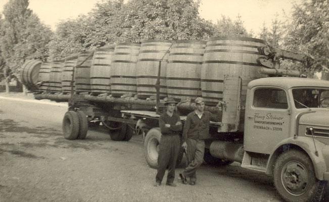 1963 Fasstransport ins Burgenland