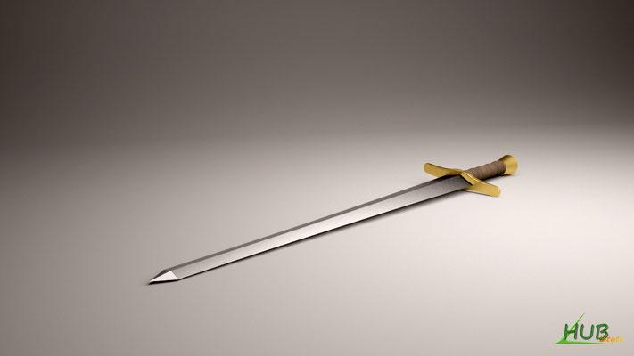 Une épée avec V-ray (3DsMax)