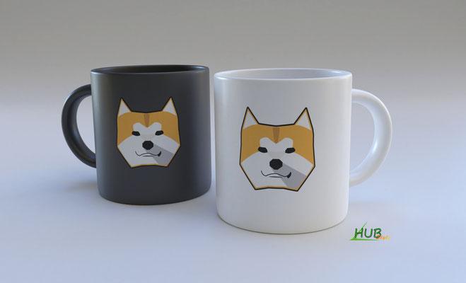 Mug + logo Akita (Blender)