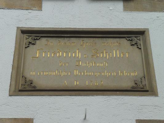 Schillergedenken Tafel von 1856