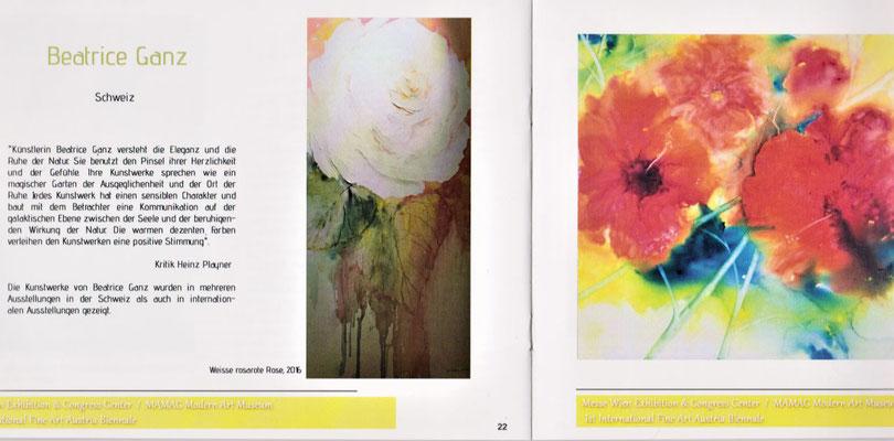 MAMAG Modern Art Museum, Katalog Seiten 22 und 23 mit Bilder von Beatrice Ganz