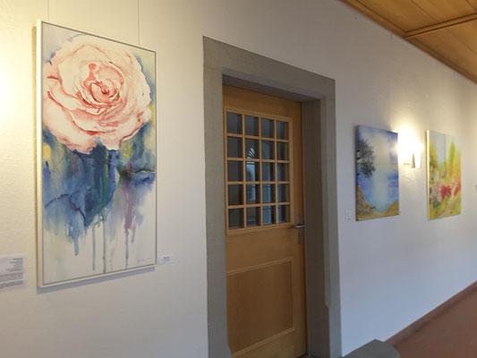Rose und Bucht, Aquarell auf Leinwänden, Beatrice Ganz