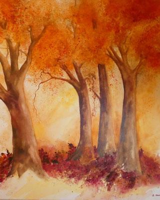 Herbstwald Nr. 2, Beatrice Ganz