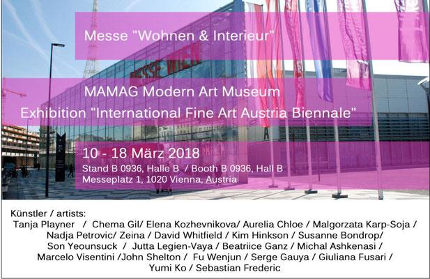 Flyer 1. Internationale Fine Art Austria Biennale