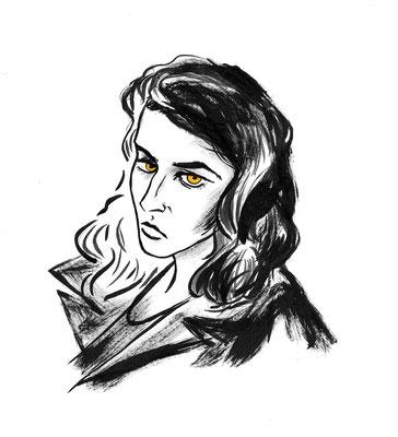 Femme Fatale - Ink portrait - Personal proyect  2020
