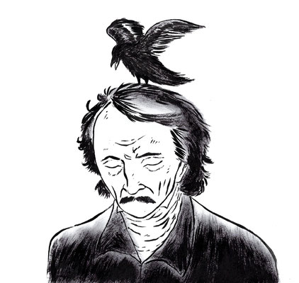 Edgar Allan Poe - Ink Portrait Tribute – Edgar Allan Poe  211th birth anniversary. Ink 2020