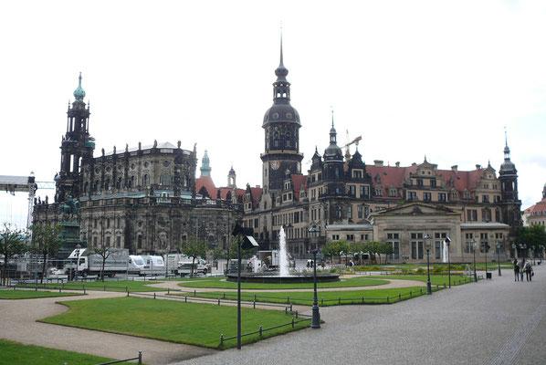Dresden, Kathedrale und Schloss