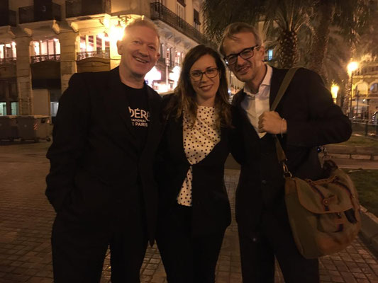 Con Aida Velert y Luis Fernando Pérez en Valencia