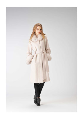 Cashmere mink fox coat