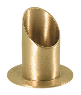 KL 4   Röhren Kerzenständer Messing matt 4 cm   18,95 €