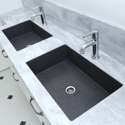 Dvigubas dviejų spalvų vonios praustuvas iš akrilinio akmens / gamintojas - Gforma
