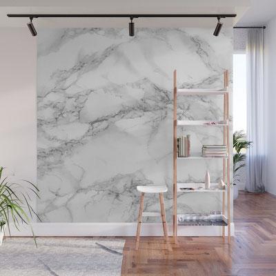 Marmurinė skiriamoji siena su menišku piešiniu
