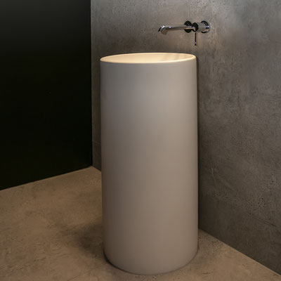 Apvalus pastatomas restorano wc praustuvas iš akrilinio akmens / gamintojas: Gforma