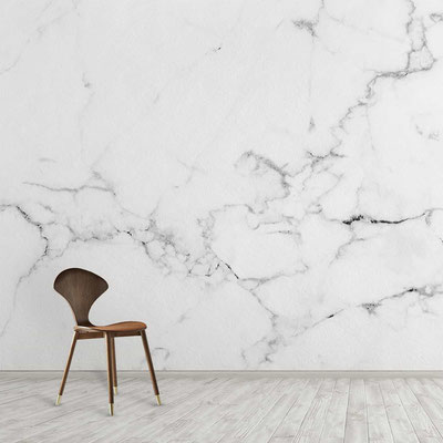 Balto marmuro siena su pilkomis gyslomis