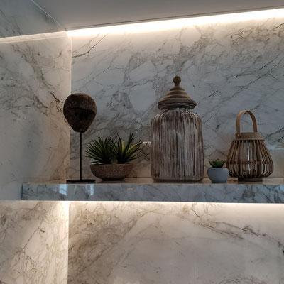 Sienos iš sensa granito įmonės restorane