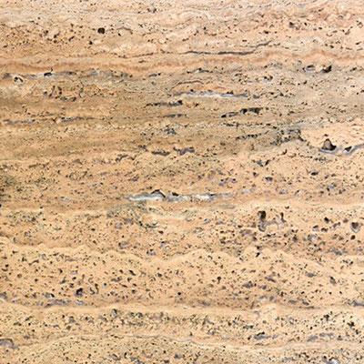 Travertino akmuo būna su natūraliomis skylutėmis