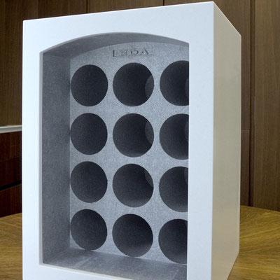Dekoratyvi vyno butelių dėžė iš akrilinio akmens / gamintojas: Gforma