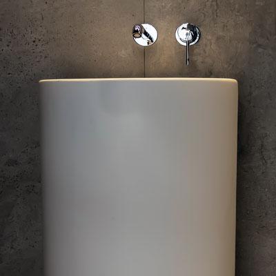Apvalus pastatomas akrilinio akmens praustuvas restorano wc / gamintojas - Gforma