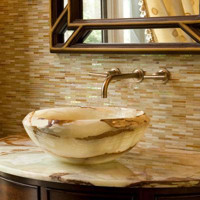 Vonios praustuvas iš alebastro