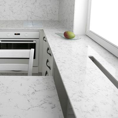 Kvarcinio akmens virtuvės baldai