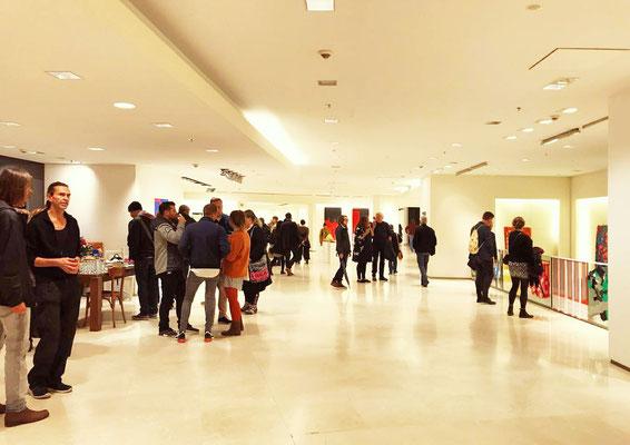 Eröffnungsabend der Ausstellung  + konkret + colour field + hard edge +