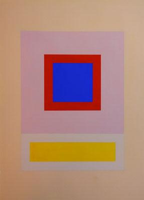 Im Quadrat, 2017_02, 1 von 4, Vinyl und Acryl auf Karton,25 x 35 cm