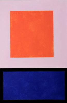Im Quadrat n°3, 3 von 3, 2016, Vinyl auf Bütten, 20 x 30 cm,