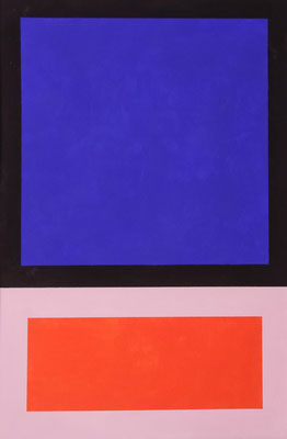 Im Quadrat n°3, 1 von 3, 2016, Vinyl auf Bütten, 20 x 30 cm,