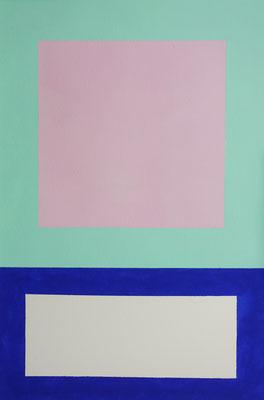 Im Quadrat n°13, 3 von 3, 2016, Vinyl auf Bütten, 23 x 31 cm