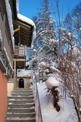 Haus Hildegard: Winter Balkon Arber
