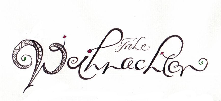 gru karten kalligraphie lettering handlettering. Black Bedroom Furniture Sets. Home Design Ideas