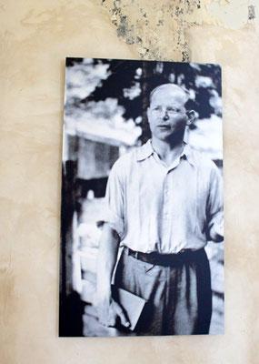 Bild von Dietrich Bonhoeffer in der Ev. Zions-Kirche. Foto: Helga Karl