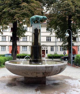 Der Fuchsbrunnen in der Gartenstadt Ceciliengärten Berlin-Schöneberg. Foto: Helga Karl