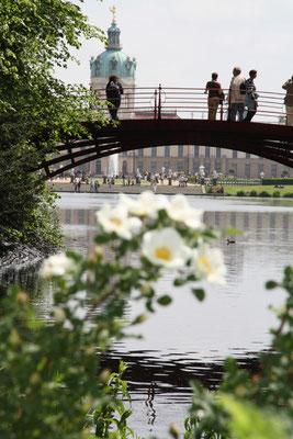 Schloss Charlottenburg im Frühling - Blick von der Roten Brücke. Foto: Helga Karl