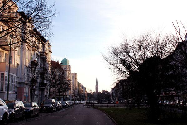 Die Bundesallee in Friedenau an einem trüben Januar-Tag. Foto: Helga Karl