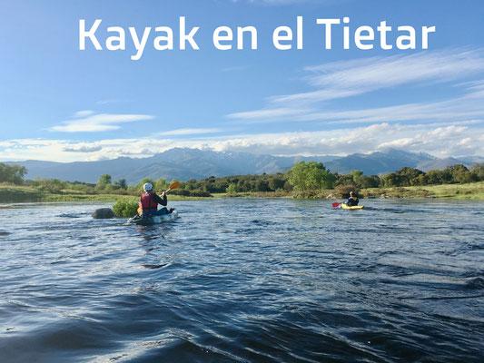 Kayak en el Tietar. Piraguas
