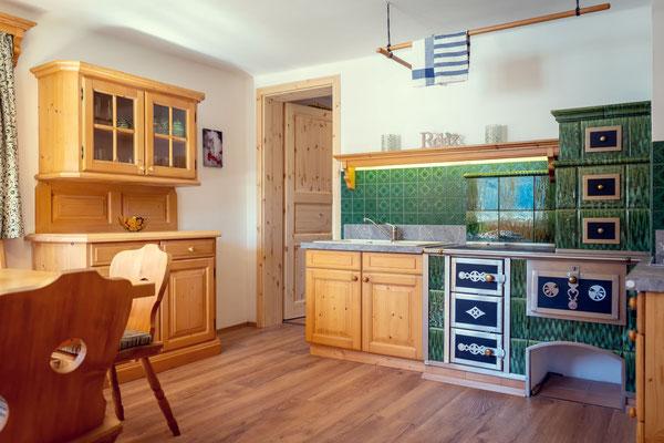der alte Tischherd in der Küche