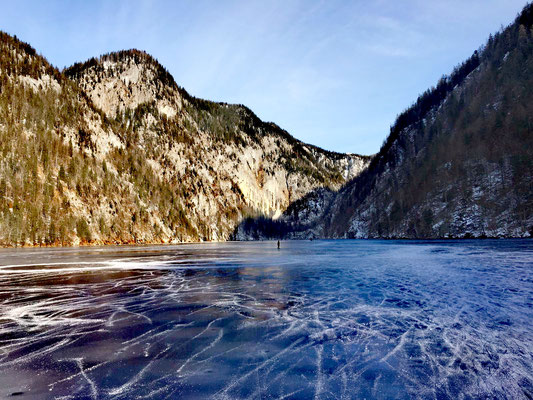Der Toplitzsee im Winter 2020