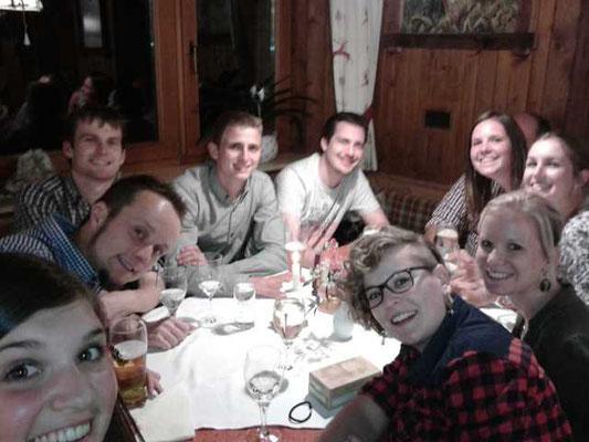 Musiausflug 2016 -  In der Lucknerhütte beim Abendessen