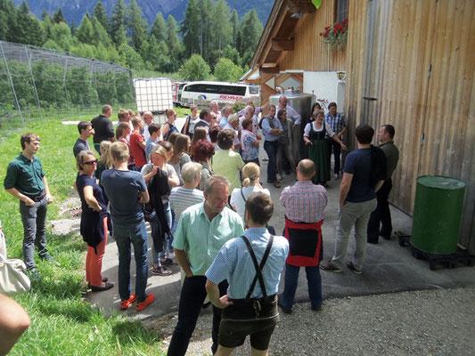Musiausflug 2016 - Führung durch die Schnapsbrennerei Kuenz bei Lienz
