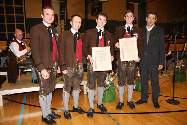 Cäciliakonzert 2018 - Verleihung Ehrenzeichen in Bronze für 10 Jahre Mitgliedschaft