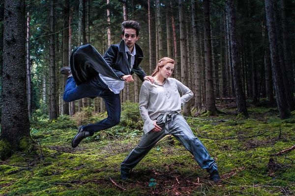 Photoproduktion by Melina Johannsen - Tänzer: Nadja Siemchen & Moritz Fabian - Styling by Anja Ossowski - Eco Fashion: Carpasus, Gesine Jost, Geniestreich Jeans, NIX, Skrabak