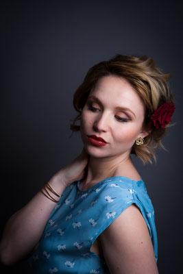 Vintage Beauty 1950´s - Nadine Maslowski - Maskenbildnerin - Photoproduction by Melina Johannsen